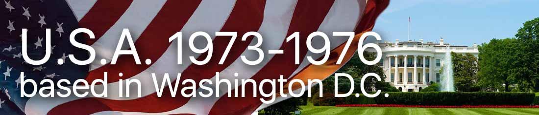 USA and Washington DC childhood from 1973 to 1976