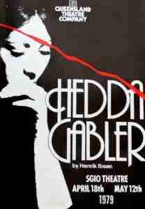 Hedda Gabler QTC Brisbane Program Cover QTC Brisbane