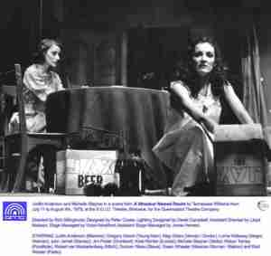 Streetcar Named Desire QTC Brisbane Photo Isabelle Anderson and Michelle Stayner