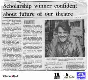 Elizabeth Bequest Scholarship to Toby Simkin (The Courier Mail)