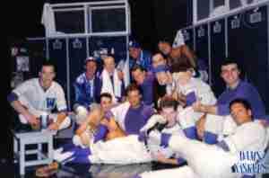DAMN YANKEES 1988 Toronto photo Backstage On Set Baseballers 01