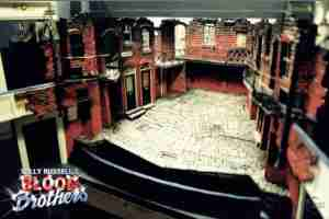 Willy Russell's Blood Brothers musical at the Liverpool Playhouse starring Stephanie Lawrence, Warwick Evans, Con O'Neill & Mark Hutchinson, prior to Toronto & Broadway | Broadway Liverpool Toronto Design Set Model