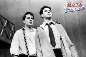 Willy Russell's Blood Brothers musical at the Liverpool Playhouse starring Stephanie Lawrence, Warwick Evans, Con O'Neill & Mark Hutchinson, prior to Toronto & Broadway | Broadway Liverpool Toronto Photo Con ONeill Mark Hutchinson December 23 1992