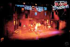 Willy Russell's Blood Brothers musical at the Liverpool Playhouse starring Stephanie Lawrence, Warwick Evans, Con O'Neill & Mark Hutchinson, prior to Toronto & Broadway | Broadway Liverpool Toronto Show Photo Reference Set Lighting A