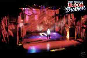 Willy Russell's Blood Brothers musical at the Liverpool Playhouse starring Stephanie Lawrence, Warwick Evans, Con O'Neill & Mark Hutchinson, prior to Toronto & Broadway | Broadway Liverpool Toronto Show Photo Reference Set Lighting B
