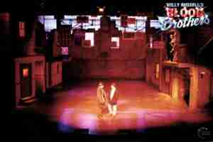 Willy Russell's Blood Brothers musical at the Liverpool Playhouse starring Stephanie Lawrence, Warwick Evans, Con O'Neill & Mark Hutchinson, prior to Toronto & Broadway | Broadway Liverpool Toronto Show Photo Reference Set Lighting C