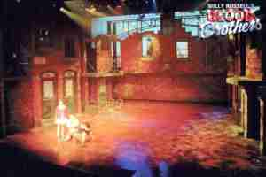 Willy Russell's Blood Brothers musical at the Liverpool Playhouse starring Stephanie Lawrence, Warwick Evans, Con O'Neill & Mark Hutchinson, prior to Toronto & Broadway | Broadway Liverpool Toronto Show Photo Reference Set Lighting D