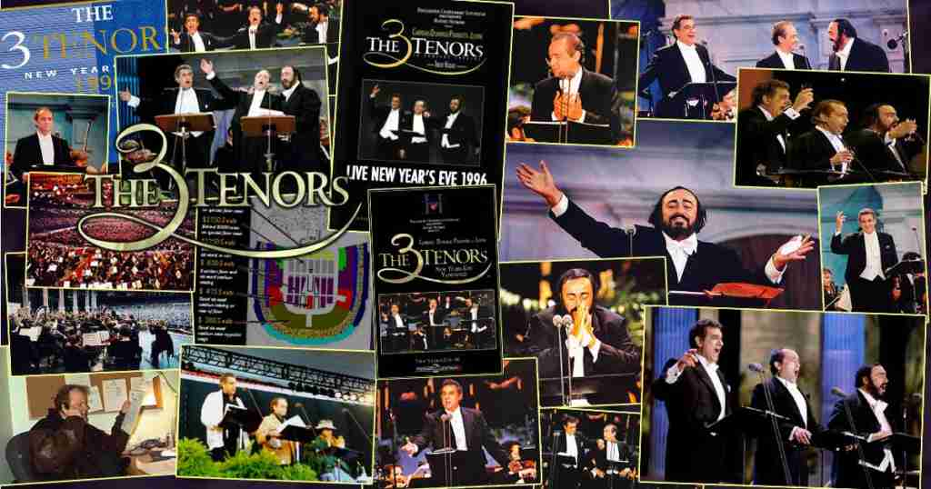 The 3 Tenors concert of the century photo montage :: aka, The Three Tenors