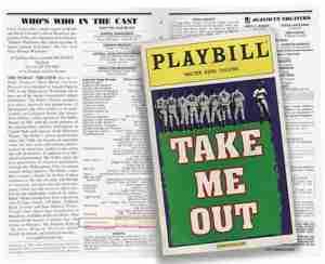 Take Me Out Broadway Program