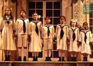 Sound of Music 1998 Broadway kids from L to R Sara Zelle Liesl Ryan Hopkins Friedrich Natalie Hall Louisa Matthew Ballinger Kurt Tracy Alison Walsh Brigitta Andrea Bowen Marta and Ashley Rose Orr Gretl