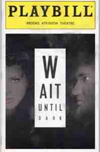 Wait Until Dark 1998 Broadway playbill cover