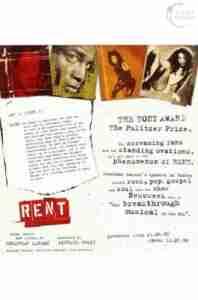 RENT 1998 London flyer fold inside