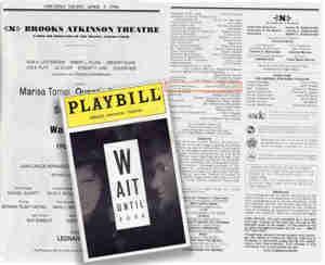 Wait Until Dark Broadway Program