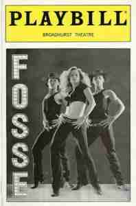 FOSSE 1999 Broadway playbill cover