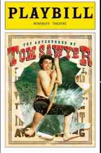 Tom Sawyer 2001 Broadway playbill cover