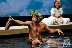 METAMORPHOSES 2002 Broadway photo Doug Hara in pool