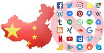 Most of the international internet is blocked from within China