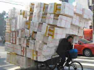 Funny China Bicycle Delivery Boxes