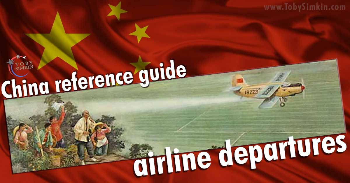 China Guide Airline Departures