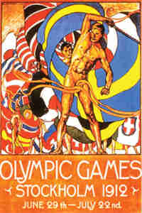 1912 Olympic Poster Stockholm