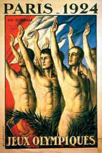 1924 Olympic Poster Paris