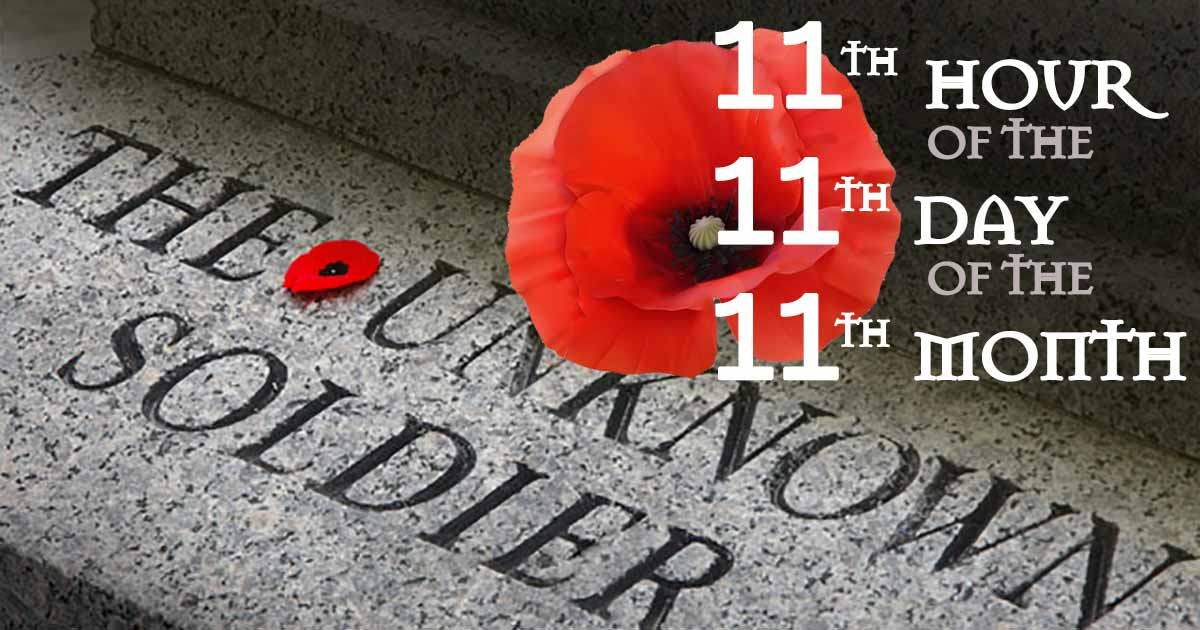Remembrance Day. Veterans Day. Armistice Day. November 11 is a date of utmost historical importance.