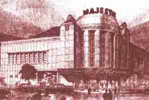 The Majestic Theatre (Shanghai) Illustration by architect Robert Fan in 1941