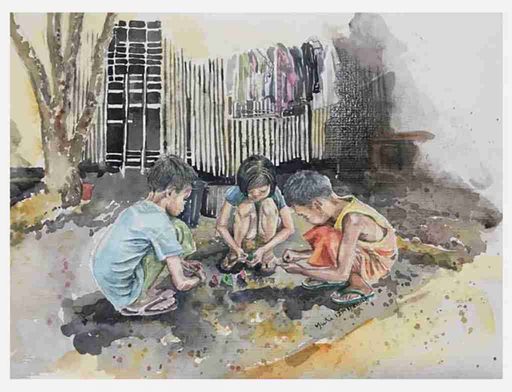 Margaret ng art poverty does not stop childrens fun