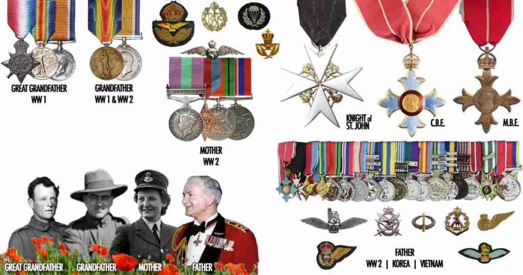 Simkin Family Military Medals