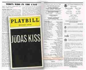 Judas Kiss Broadway Program