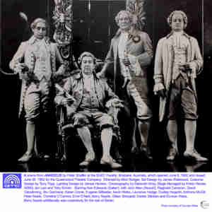 Amadeus (QTC The Queensland Theatre Company Brisbane) [Photo] show David Clendinning & Duncan Wass