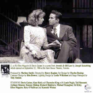 Arsenic and Old Lace starring Kate Reid, Charmion King and Davis Gaines at the Hart House Theatre