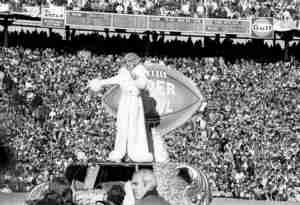 Carol Channings half time show at the 1970 Super Bowl