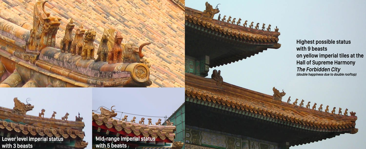 China Rooftop Ornaments