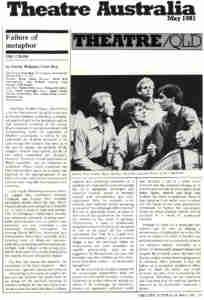 Choir (1981 TN Theatre Co Brisbane) [Press] Theatre-Australia-Review