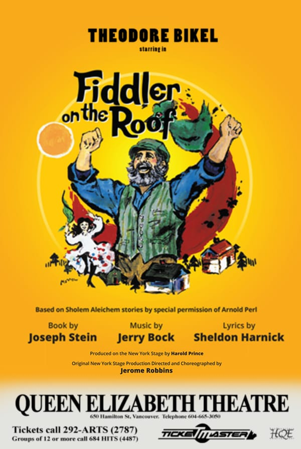 Fiddler on the Roof Vancouver Poster