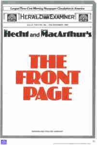 Front Page (QTC Brisbane) [Program] Cover