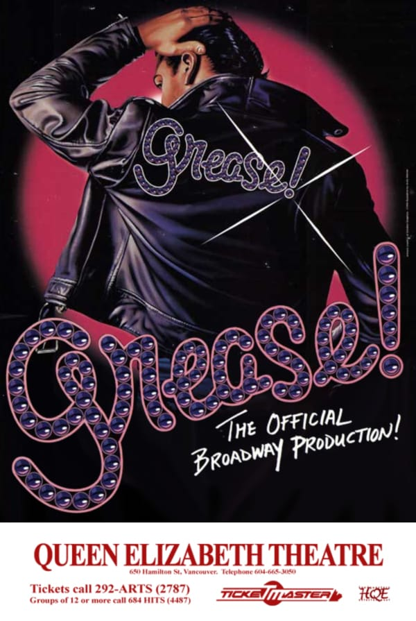 Grease Vancouver Poster