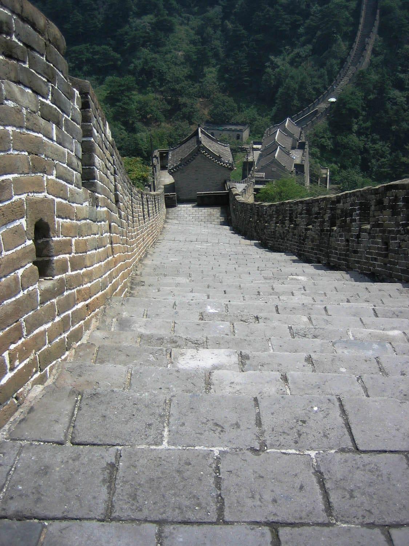 Great Wall at Mutianyu Down Steps
