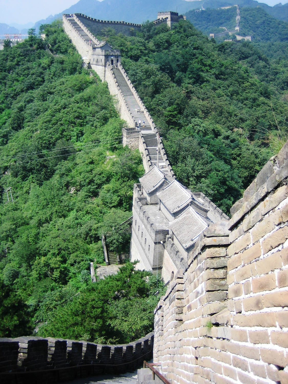 Great Wall at Mutianyu Looking West