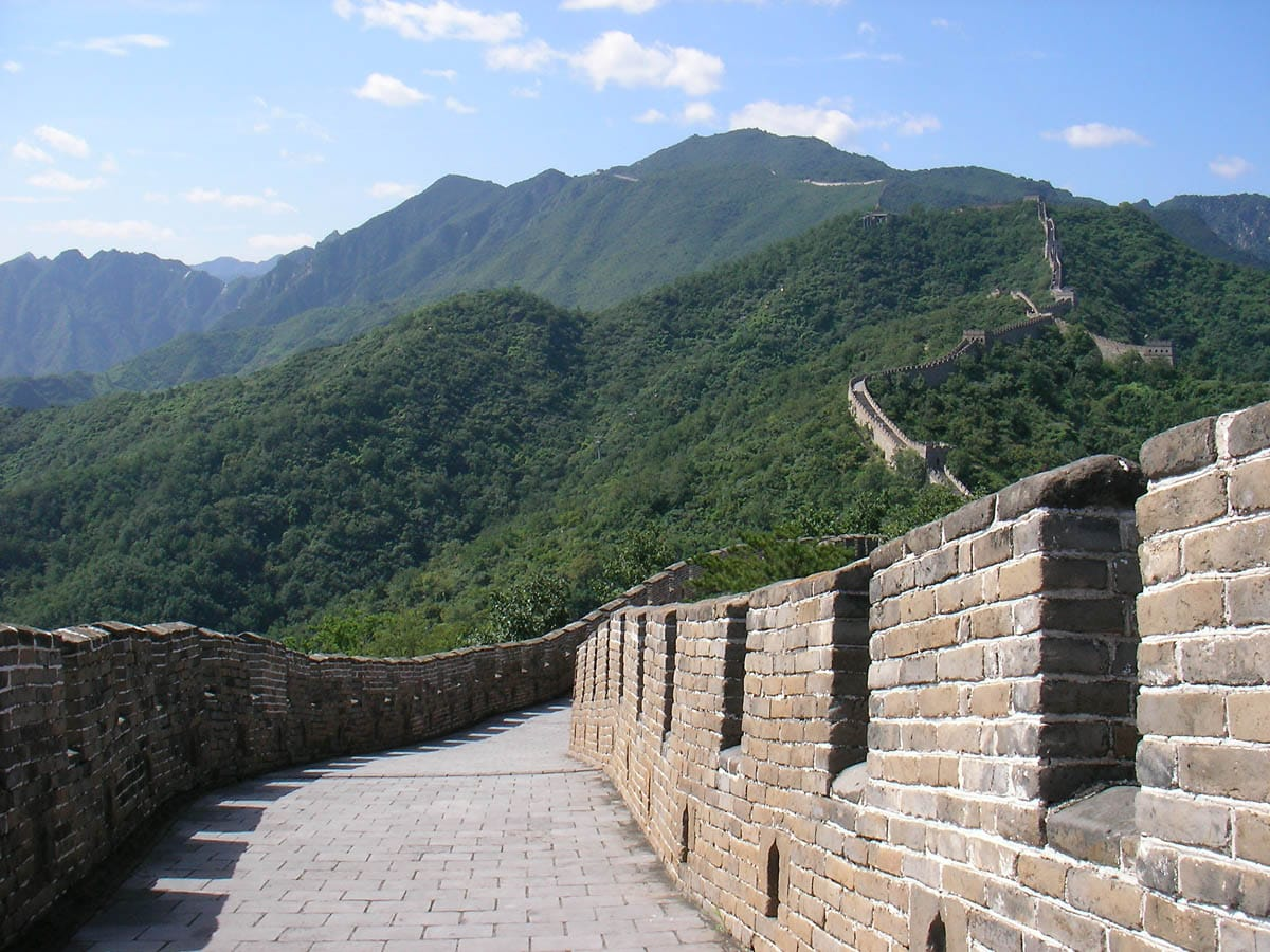 Great Wall at Mutianyu quiet and tranquil