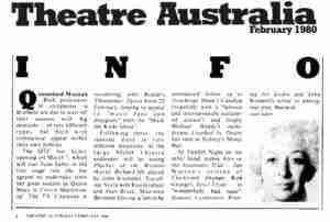 Gypsy (QTC Brisbane) [Press] Theatre-Australia-Article