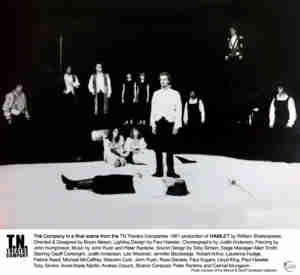 Hamlet (1981 TN Theatre Co Brisbane) [Photo] w Toby