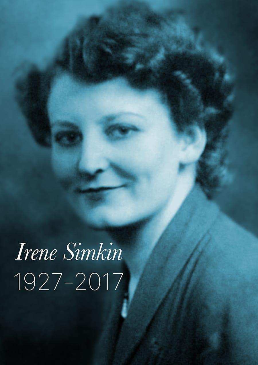 Irene Simkin Memorial Poster 1940s