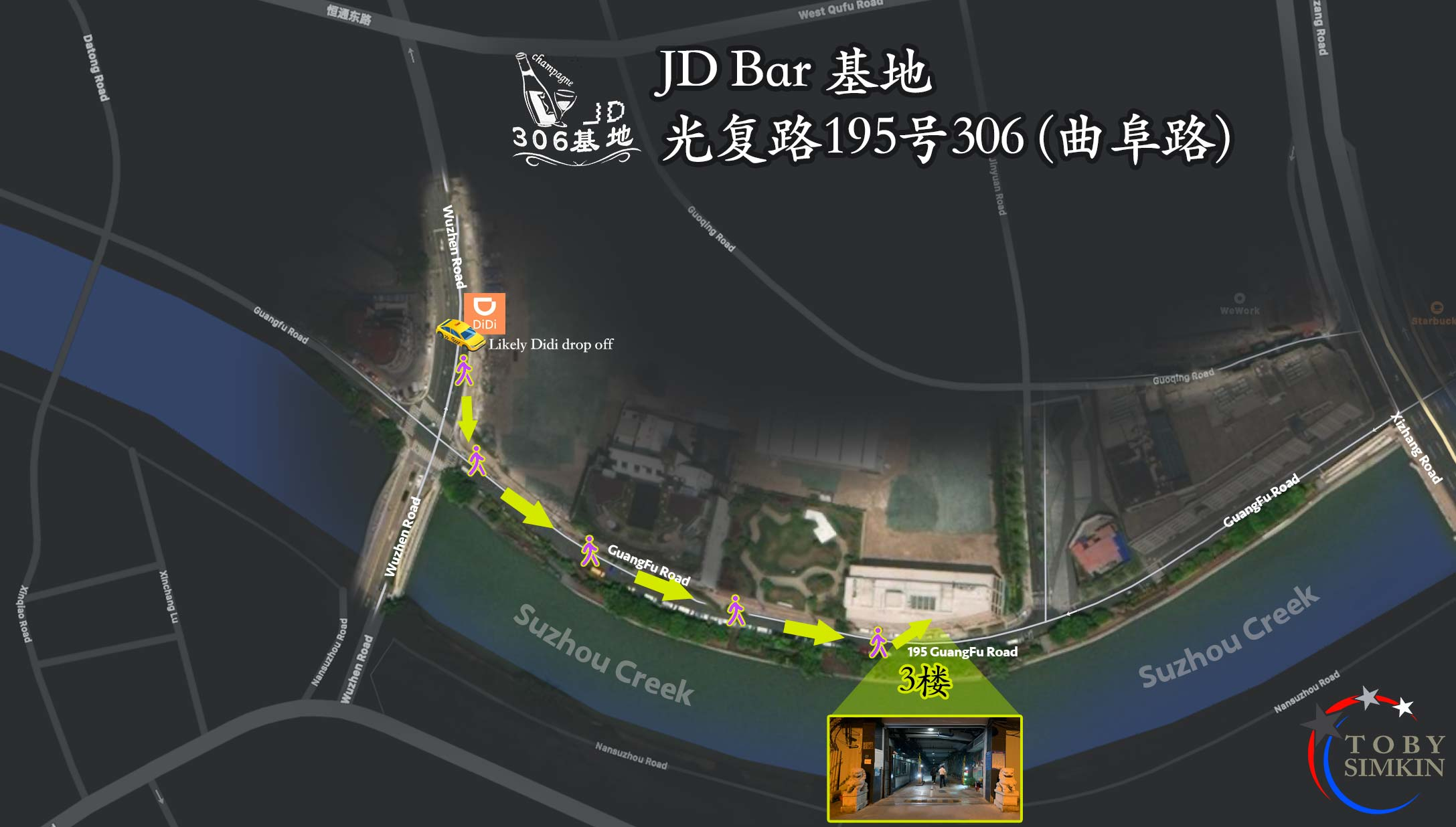 JD Gay Bar in Shanghai Map