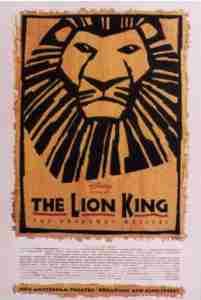 Lion King Broadway Poster