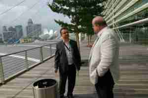 Live Singapore smoke break with Tim Lawson and Toby Simkin at Marina Bay Sands