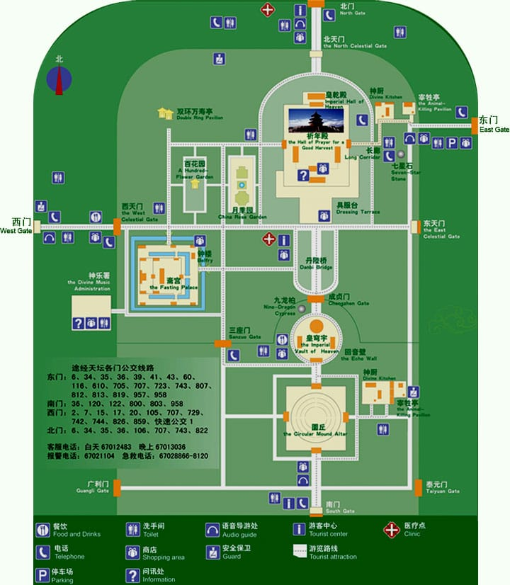 Map Temple of Heaven