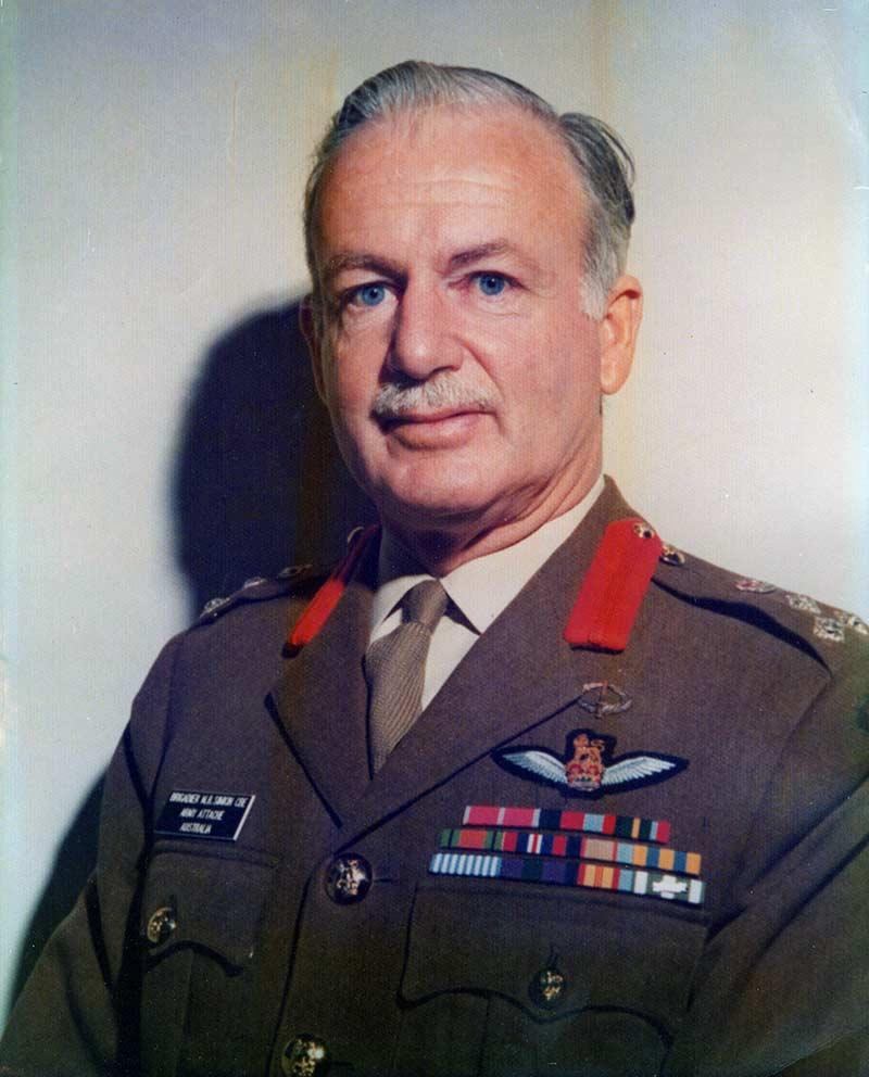 Max Simkin Brigadier MB Simkin CBE Portait
