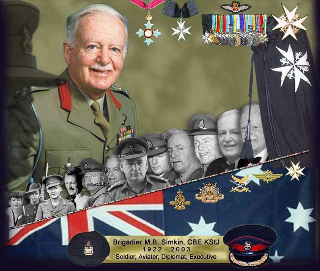 Max Simkin Brigadier MB Simkin Memorial Montage
